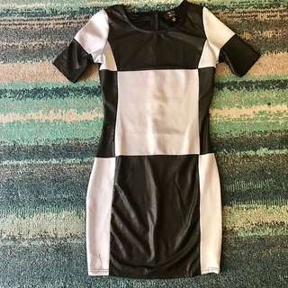 ICE Black And White Dress