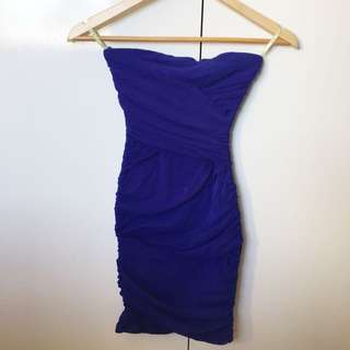 Bardot Blue Party Dress