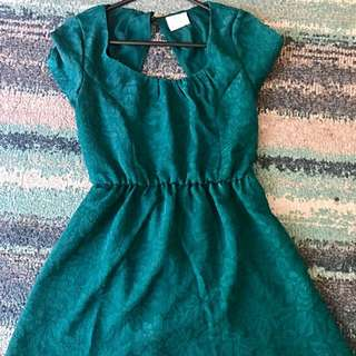 Pins And Needles Green Dress