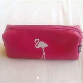 Typo Pink Flamingo Pencil case