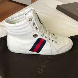 Mens Gucci Blue Red Web High tops