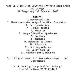 Kursus Atau Jasa Make Up Artist Di Tangerang