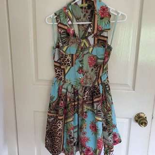 Printed Day Dress