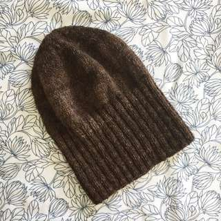 Brown Wool Beanie