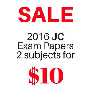 SALE 2016 JC Exam Papers 2 Subjects for $10 | A Level Test Papers 2016 with Reliable Answer Key!