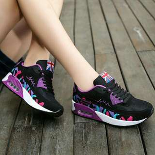 PO SALE!🔥Purple & Blue Camo Wedge Sneakers / Casual Shoes