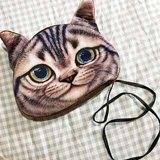 Cat Face Sling Bag