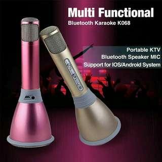 PO🔥K068 Portable Bluetooth Microphone Speaker