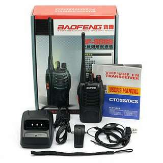 1 Pair (2pcs) 16 Channels Radio Walkie Talkie Baofeng UHF 5W 3KM