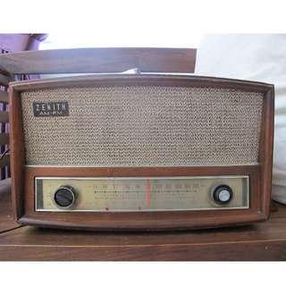 1950s WORKING VINTAGE ANTIQUE ZENITH G730W AM/FM RADIO (Model G730)