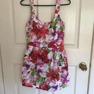 Floral Low Back Dress