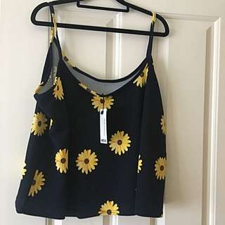 Cute Sunflower Cami - New - Size 18 - Plus Size
