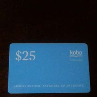 $25 KOBO gift card