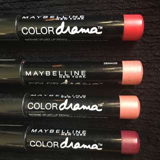 MAYBELLINE Colour Drama Lipsticks: $10 Each!!