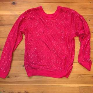 Red Sequins Jumper