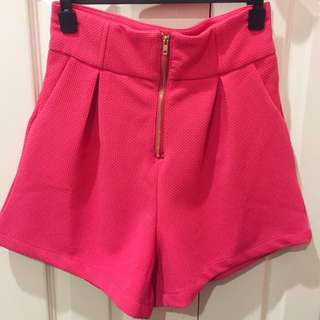 Pink High Wasted Shorts
