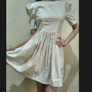 #ClearanceSale Dress Putih Polkadot