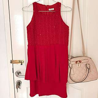 CNY red dress bodycon