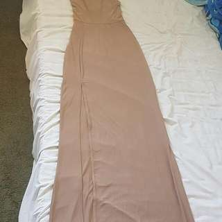 Missguided Slinky Side Split Maxi Dress