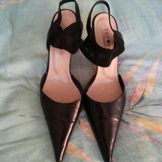 TOPEND Black Heels (Size 38)