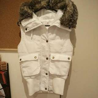 White Winter Vest