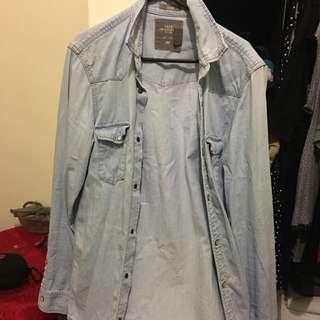 H&M Man Denim Shirt