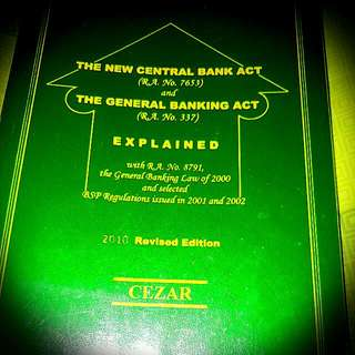 The New Central Bank Act & General Banking Act By Cezar