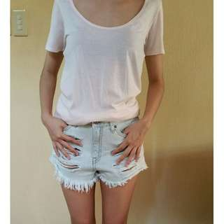 MANGO Relaxed Pale Pink Tshirt