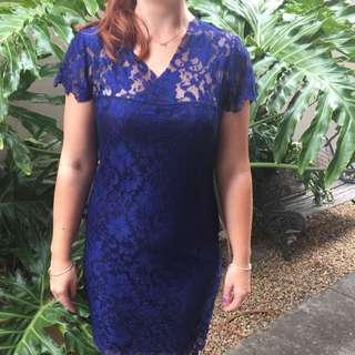 Royal Blue Lace Dress