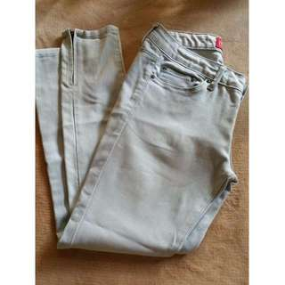 REDGIRL Acid wash Skinny Jeans with zipper detail