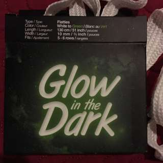 UNISEX glow in the dark shoe laces