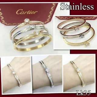CARTIER BANGLE WITH SWAROVSKI STONE