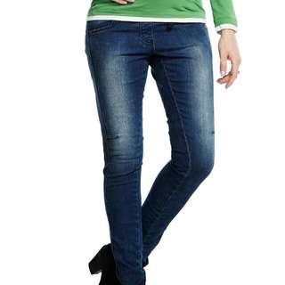 Mamaway 孕期韓版窄管牛仔褲