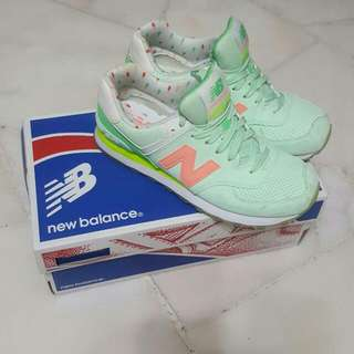 New Balance Neon Orange, Yellow, Mint/tiffany Blue Shoes