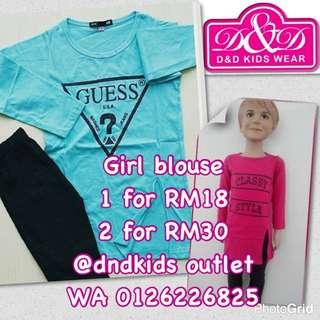 Girl blouse 2-8 years