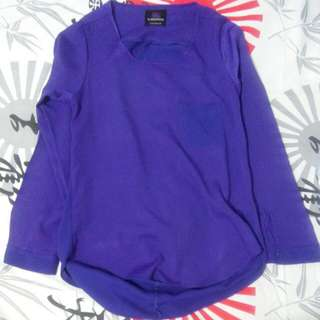 Plains And Prints Violet Long Sleeve