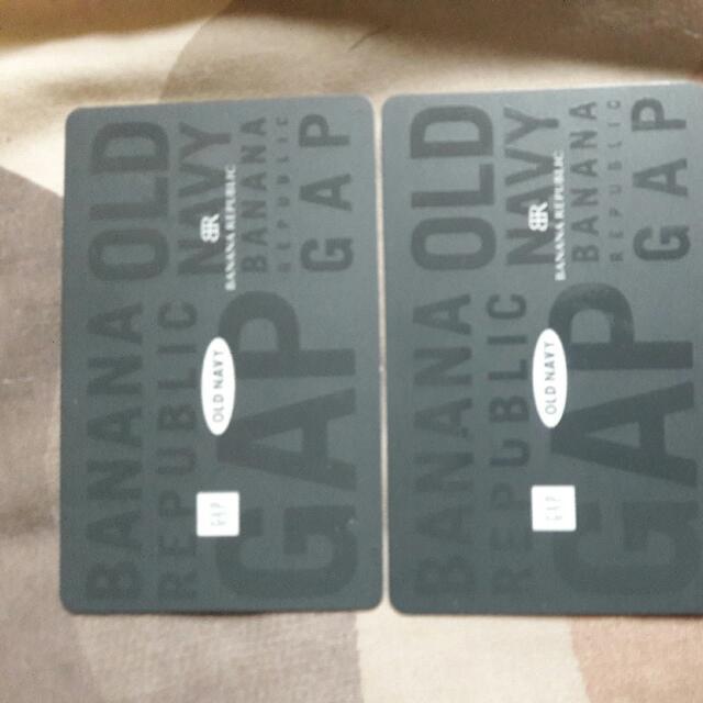 2 GAP ,OLD NAVY AND BANANA REPUBLIC Gift Cards