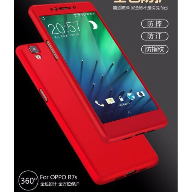 low priced 65ecb 3597b 360 Protection Tempered Glass Case Cover OPPO R7 R7S & R7 PLUS HOME / SHOP  / CASE