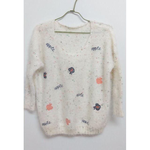 (二手)蘋果圖紋毛衣