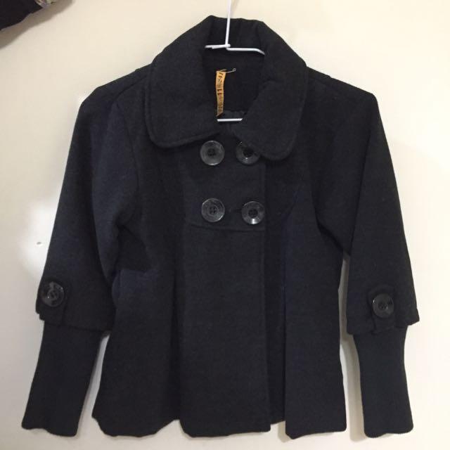 女雙排扣外套