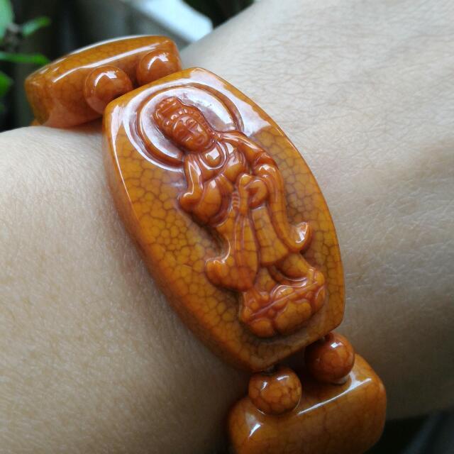 【【【特價出清】】】火供玉手排/天珠的一種/菩薩火供手排/手鍊(不含蜜蠟戒指)$1500