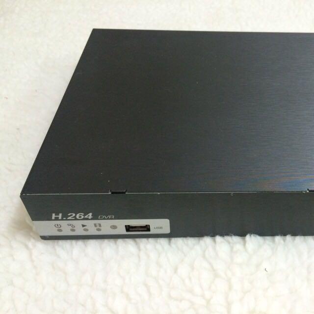 台製 DVR 4CH H.264監視器主機 + 搖控器