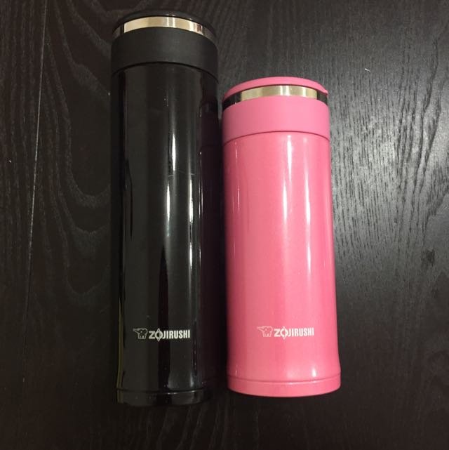 象印保溫杯 ZOJIRUSHI 小粉紅和大黑黑