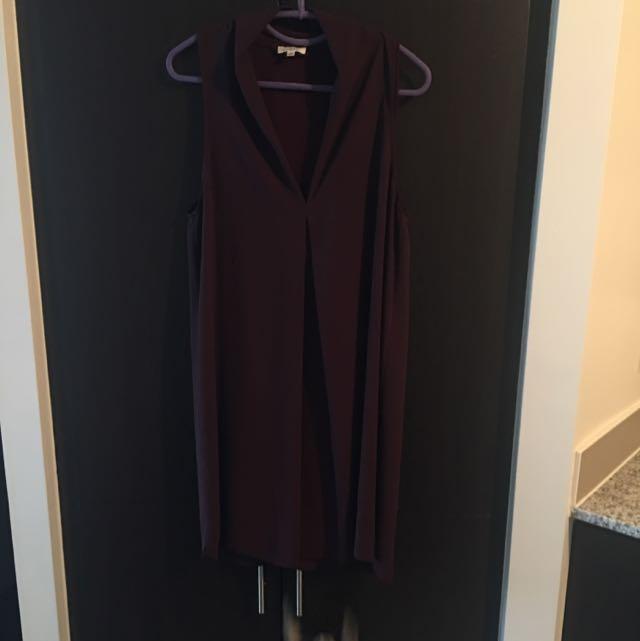 Aritzia - Wilfred Dress in Burgundy