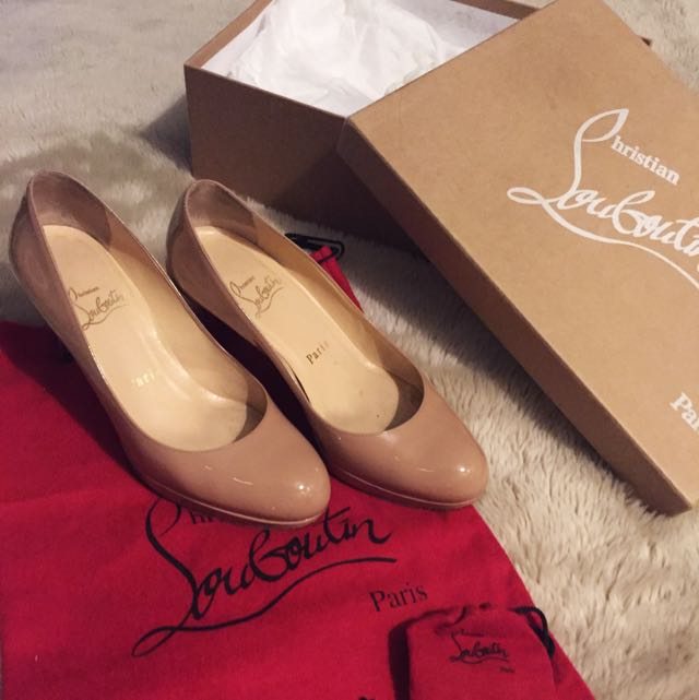 Authentic Christian Loubutin New Simple Pump (Nude)
