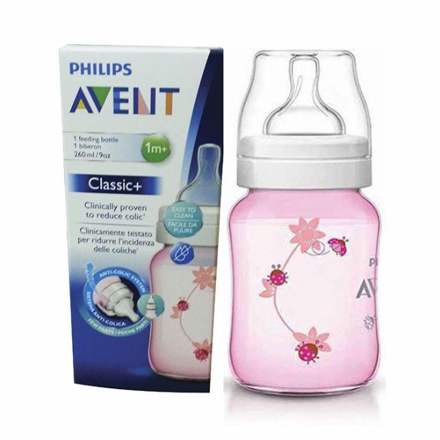 Avent Classic+ Pink Ladybug Bottle 9oz / 260ml Single Pack [ ready stock]