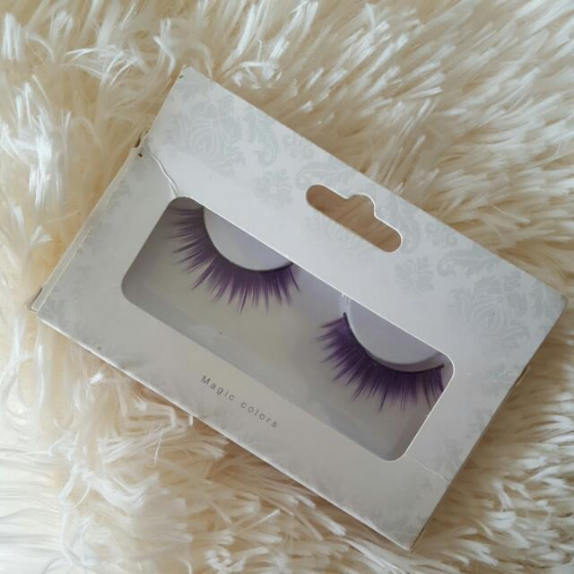 BACI Lingerie Purple Eyelashes