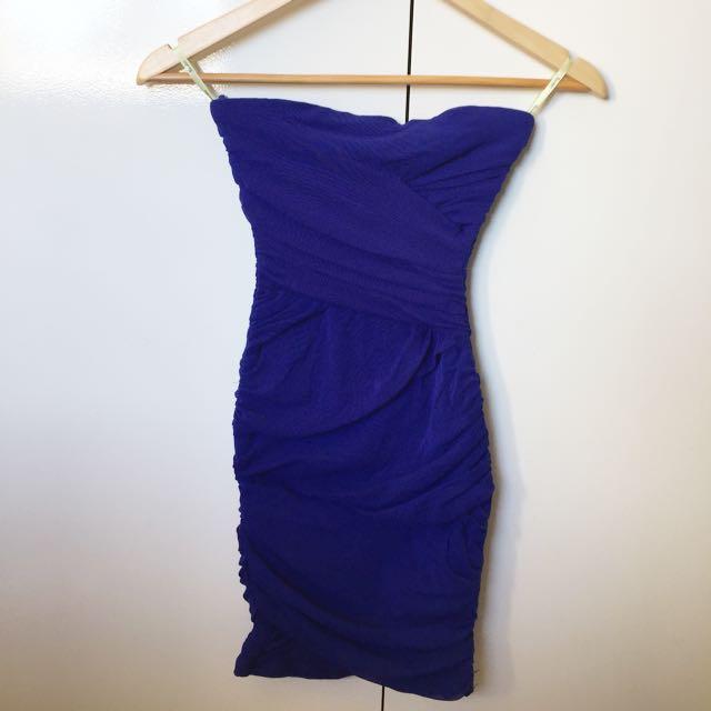 Bardot Blue Party Dress