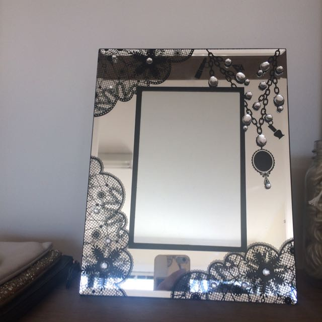 beautiful detailed mirror with frame