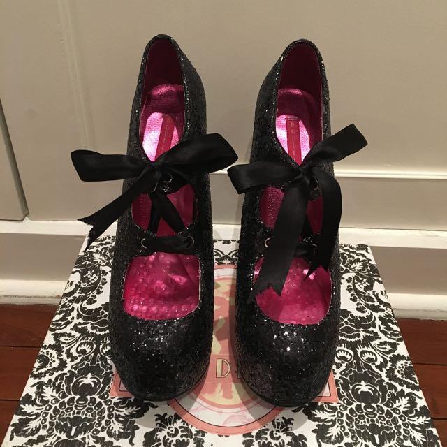 Black BORDELLO heels